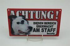 Le staff-tierwarnschild-Attention danger 20x12 CM CHIEN bouclier 2 amstaff