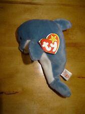 Ty Beanie Baby Echo the Dolphin ~ Mwmt ~ 1996 ~ Mint w/ Mint Tags ~ Retired