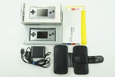 Nintendo Gameboy Micro Silver Console AC GB Box From Japan