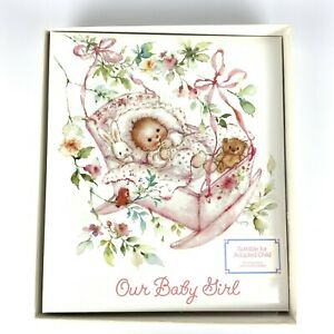 Hallmark Our Baby Girl Memory Keepsake Album Suitable for Adopted Child NEW