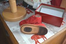 chaussure bottine  neuve bonpoint de marche 21 rouge daim cuir+c jacadi neuf off