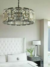 New Harlow Chandelier Pendant Bronze Crystal Glass Restoration Hardware Replica