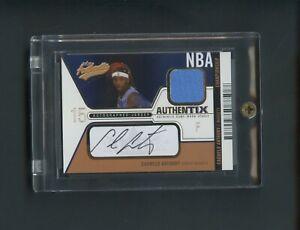 2003-04 Fleer Authentix Carmelo Anthony RC Rookie Jersey AUTO 4/25