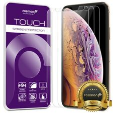 "Fosmon iPhone XS Max 6.5"" 3x HD Clear 9H Tempered Glass Screen Protector Guard"