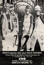"""28/11/92PGN11 U2 : WHO'S GONNA RIDE YOUR WILD HORSES SINGLE ADVERT 15X11"""""""