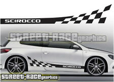 VW Volkswagen Scirocco Racing Rayas 001 Pegatinas Calcomanías Gráficos