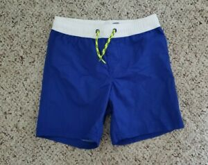 NWT Old Navy Boys Blue & White Swim Shorts Trunks Bottoms Sz S 6-7