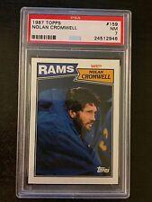 1987 TOPPS #159 NOLAN CROMWELL,1985 TOPPS #78  *RAMS* 2 CARD LOT! KRF-8941