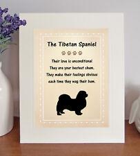 Tibetan Spaniel Free Standing Picture Mount 'Bestest Chum' Poem Fun Novelty Gift