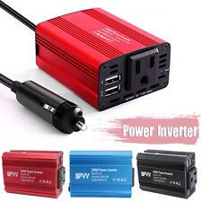 Car Power Inverter DC 12V To AC 110V Converter USB Charger Cigarette Lighter