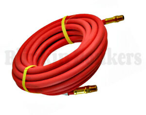 """LONG 50FT X 3/8"""" INCH AIR LINE RUBBER HOSE FOR COMPRESSOR SPRAY GUN AND AIR TOOL"""