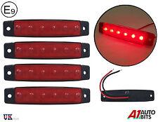 4X 12V rouge Led latéral arrière FEUX DE POSITION Lampes pour remorque camion