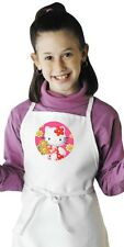 Hello Kitty Kids Apron Children's White Bib Cooking Aprons by CoolAprons