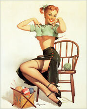 "Sexy Pinup Model Girls Art FRIDGE MAGNET 2.5""X3.5"" #2"