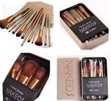 Hot 12Pcs MakeUp Foundation Brush Set Brand New High Quality Gold Metal Case