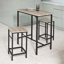 SoBuy Set de 2 Taburetes y 1 mesa,juego de 3 piezas comedor mesa,H87cm,OGT10-N,E