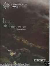 2015 San Francisco Opera Program - LUCIA DI LAMMERMOOR - Donizetti/Cammarano