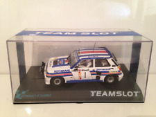Team Slot 11808 Renault 5 Turbo Danube Rally 1983. Rothmans