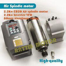 22kw 220v Er20 Cnc Air Cooled Spindle Motor Huan Yang Vfd Inverter 80mm Clamp