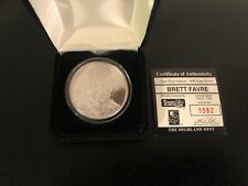 Brett Favre limited #d Silver Coin from Highland Mint w/case and certificate