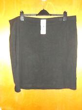 "Dalia Collection Plain Pull On Stretch Pencil Skirt UK 26-28 L 23"" Black BNWT"