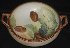 ~Antique Hand Painted Bowl Raised Nuts Japan~