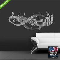 Wall Decal Mural Sticker Beautyfull Notes Music Bedroom (Z166)
