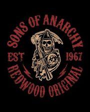 """Sons Of Anarchy Queen Size Blanket 79"""" x 96"""" SOA SAMCRO Reaper Redwood Original"""