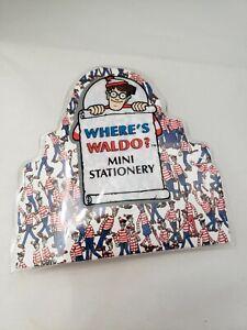 Where's Waldo?  Mini Stationery Set with Mini Colored Pencils - Brand New!