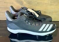 Adidas Icon Bounce Low Metal Spikes Baseball Cleat Black/White Size 12 CG5241