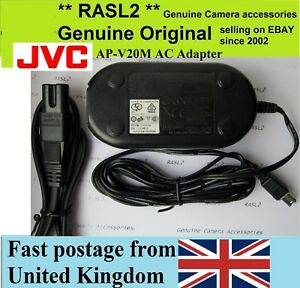 Genuine Original JVC AP-V20m Charger Everio GZ- HD30 HD40 HD5 HD6 HD7 GR-D240