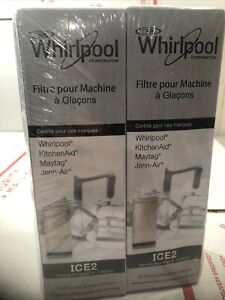 Whirlpool Water Filter Ice Maker ICE2 Maytag KitchenAid SEALED 2 Pack