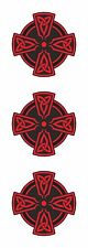 Cross 3x Stickers Red