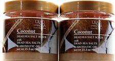 2 Dead Sea Collection Coconut Dead Sea Salt Scrub with Aromatic Oil 23.3 oz Jars