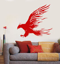 Vinyl Wall Decal Phoenix Mythology Fairy Bird Forks Of Flame Stickers (2114ig)