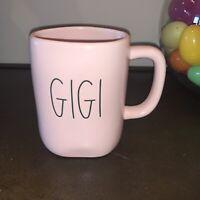 "Rae Dunn Pink Ceramic ""GIGI"" Mug w/Large Black Letters, NEW!"