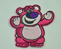 LOTSO BEAR LOTS O HUGGIN TOY STORY EMBROIDERED APPLIQUE PATCH SEW IRON ON BADGE