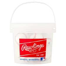 (8 Pack) Rawlings Bucket of 8U Official League OLB3 Baseballs