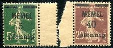 MEMEL 1920 18a,22a ** POSTFRISCH GC-PAPIER 55€(J0064