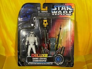 Star Wars - Power of the Force - Deluxe Crowd Control Stormtrooper