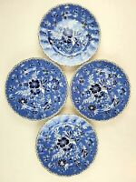 "New Set of 4 Johnson Brothers England Devon Cottage Blue White 8.5"" Salad Plate"