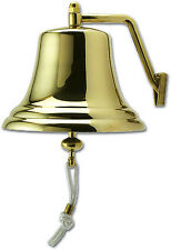 "Victory FS2106 Foresti & Suardi 8-1/4"" Cast Polished Brass Ship's Bell 90065-3"