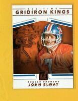 39460 JOHN ELWAY  2017 DONRUSS GRIDIRON KINGS DENVER BRONCOS CARD #18