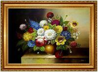 Ölbild BLUMEN Ölbilder Blumenmotive Blumenmalerei ÖLGEMÄLDE HANDGEMALT 60x90cm