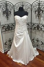 160 CALLISTA 4209 SZ 20W IVORY $1900 STRAPLESS BEADED WEDDING DRESS GOWN