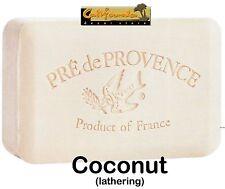 Pre de Provence French Soap COCONUT Scent 250 Gram Lathering Bath Shower Bar XL