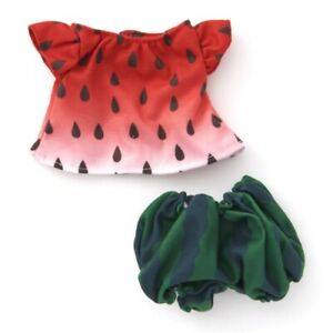 Pickles the Frog Costume for Bean Doll Plush Watermelon Japan