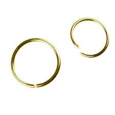 0,8mm Oro Anello Nasenpiercing ad Piegare verso l'alto Anello Naso Piercing