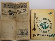QUANTANAMO BAY CUBA SEABEES 1960 BATTALION 4 BOOK & NEWSPAPER MILITARY YEARBOOK