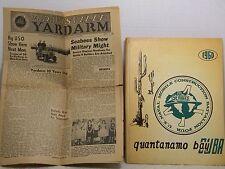QUANTANAMO BAY CUBA SEABEES 1960 BATTALION 4 BOOK & NEWSPAPER MILITARY YEARBOOK